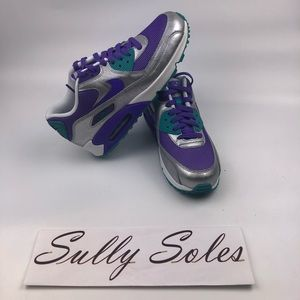 Air max 90 purple blue size. 7Y Brand New